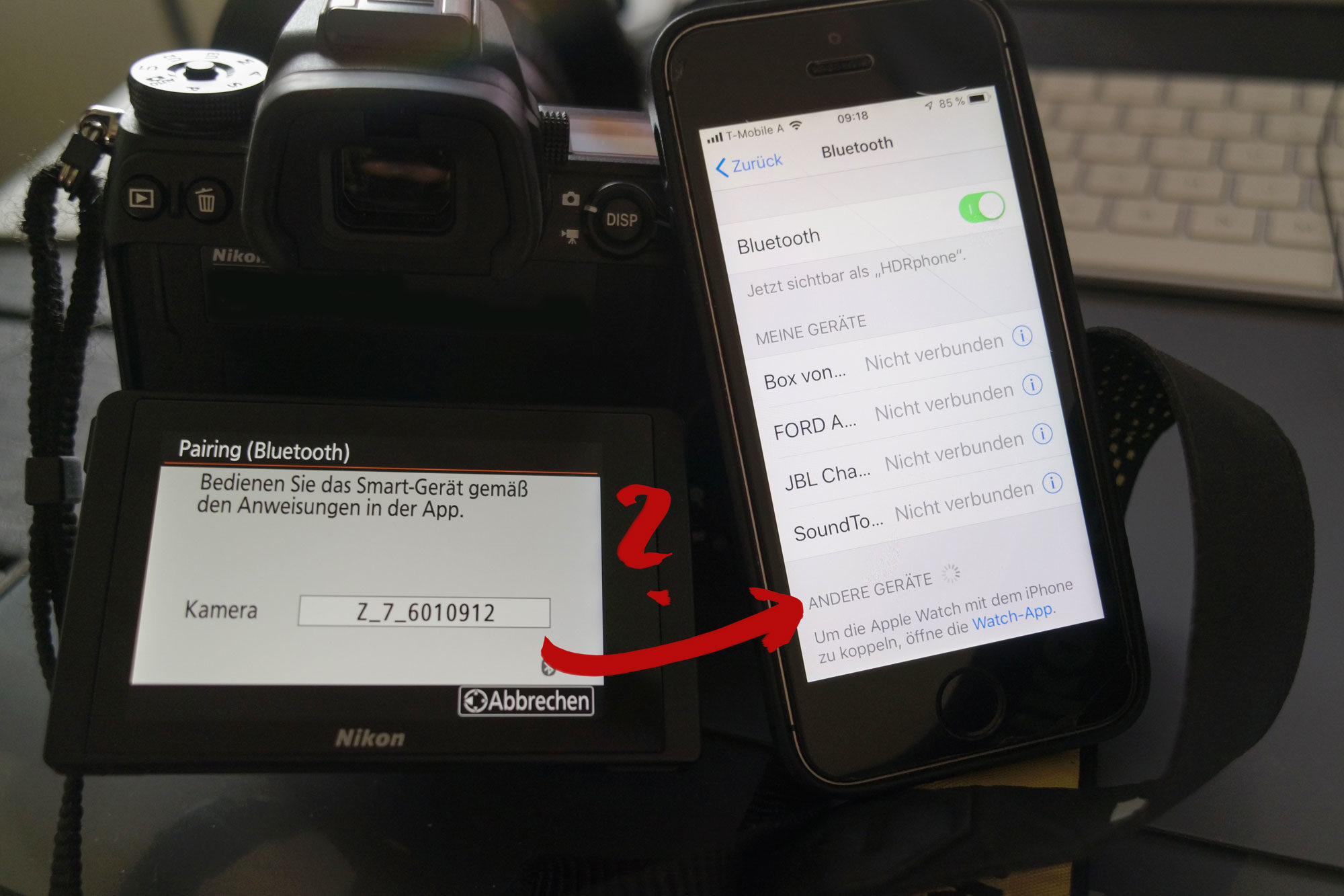 Bluetooth Pairing Z7 Probleme