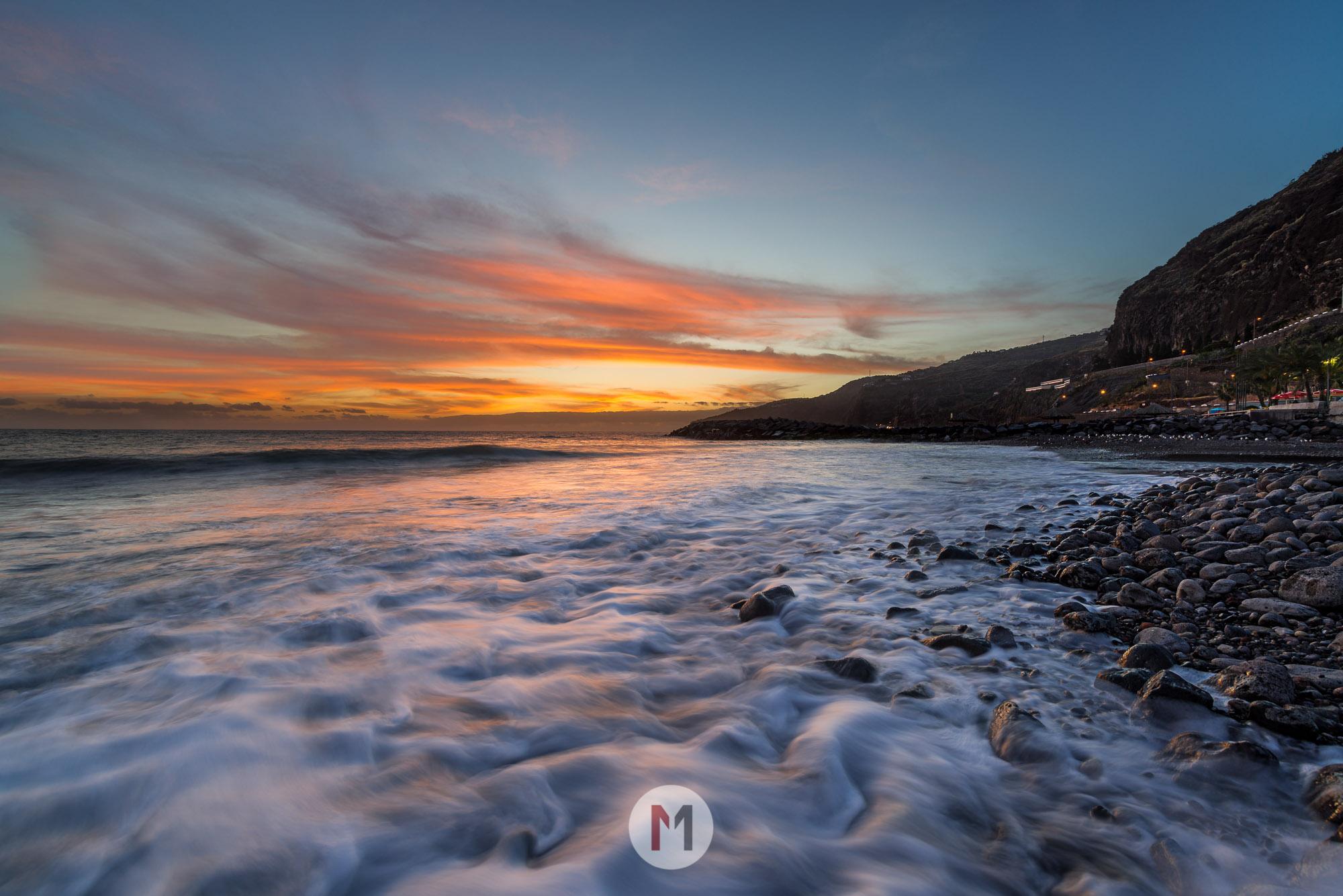 Sonnenuntergang Küste Madeira